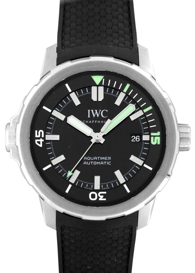 IWC IW329001 アクアタイマー オートマティック SS 黒文字盤 自動巻き ラバー