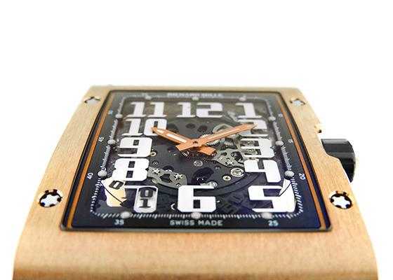 【中古】リシャールミル RM016 オートマティック エクストラフラット RG スケルトン文字盤 自動巻き レザー