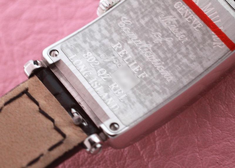 フランクミュラー 802QZREL ロングアイランド レリーフ SS 白文字盤 クォーツ レザー