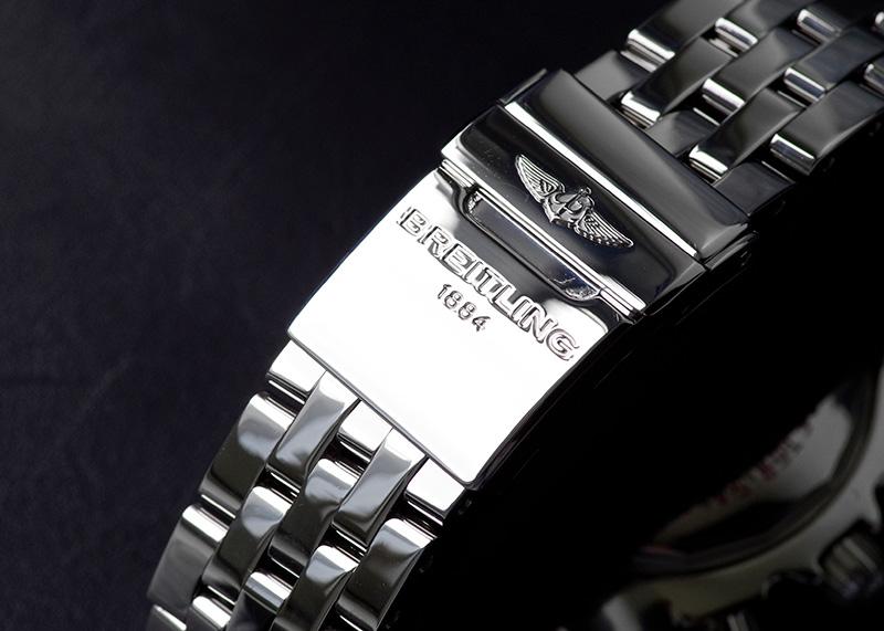 【中古】ブライトリング A011BJAPA クロノマット 44 ローマンエディション SS 黒文字盤 自動巻き ブレスレット【日本限定】