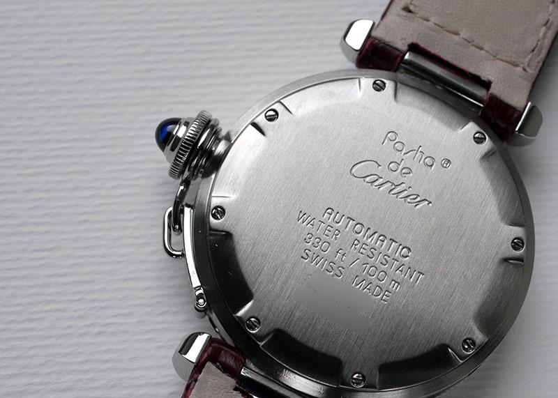 【中古】カルティエ パシャ ダイバー 35mm SS アイボリー文字盤 自動巻き レザー