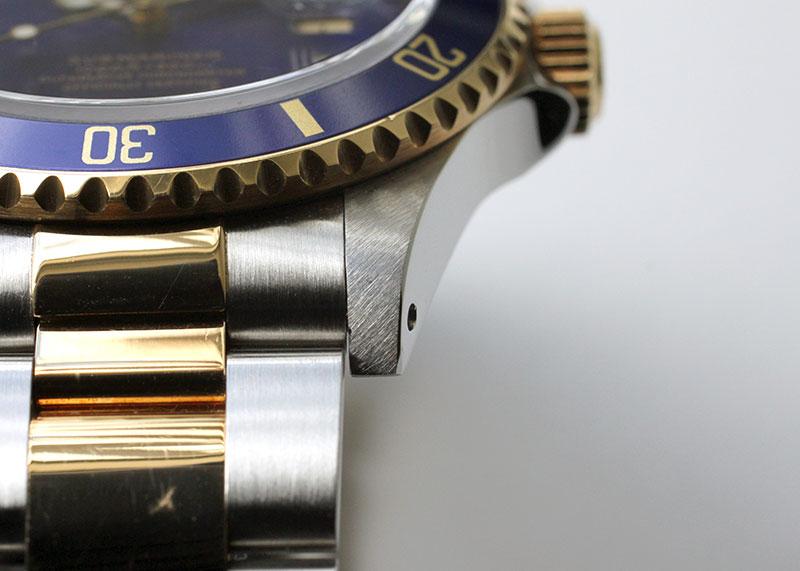 【中古】ロレックス オイスターパーペチュアル サブマリーナ デイト 16613 YG&SS ブルー文字盤 自動巻き ブレスレット