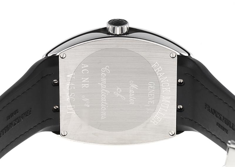 フランクミュラー V45SCDT AC NR ヴァンガード デイト SS 黒文字盤 自動巻き ラバーアリゲーター
