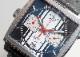 【中古】タグホイヤー CAW211D.FC6300 モナコ クロノグラフ スティーブマックィーン SS ブルー文字盤 自動巻き レザー