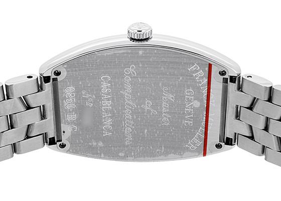 フランクミュラー 6850CASA カサブランカ SS 白文字盤 自動巻き ブレスレット