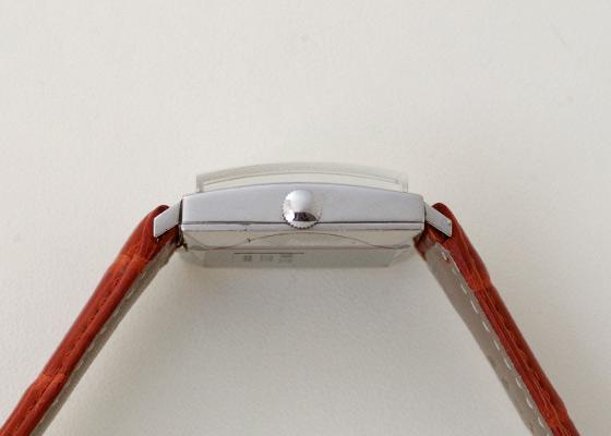 【ヴィンテージ】IWC 1962年製 R1160A オールドインター シャフハウゼン スクエア オートマティック Cal.8541 SS シルバー文字盤 自動巻き レザー