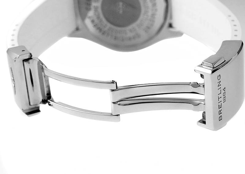 【中古】ブライトリング A187AJARRC(A17364) スーパーオーシャン 42 ジャパン エディション SS 白文字盤 自動巻き ラバー