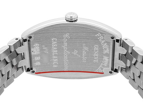 フランクミュラー 6850CASA カサブランカ SS 黒文字盤 自動巻き ブレスレット