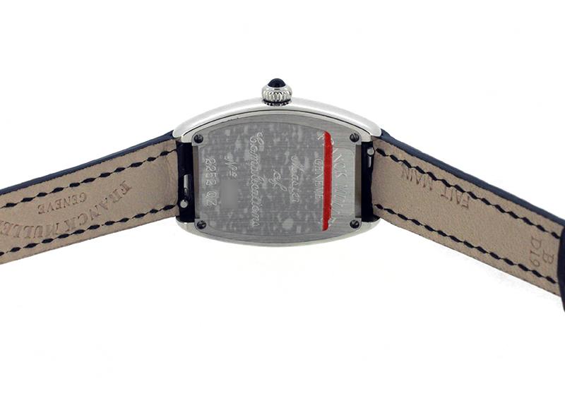 【即日ご注文可】フランクミュラー 2252QZ トノーカーベックス SS 白文字盤 クォーツ レザー