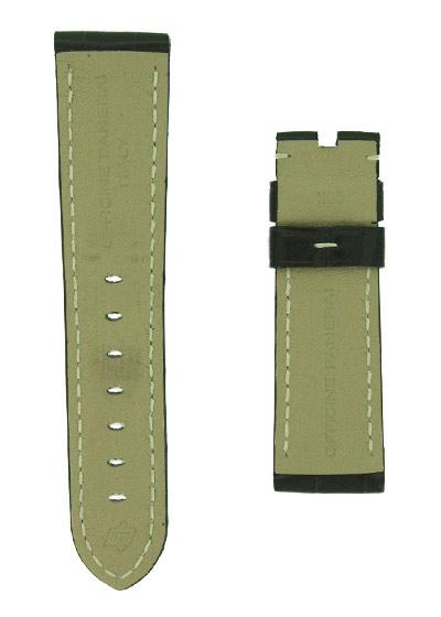 オフィチーネパネライ レザーストラップ ルミノール 40mm用 クロコダイル ダークブラウン(艶無) 22-20mm
