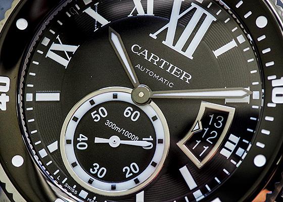 カルティエ W7100057 カリブルドゥカルティエ ダイバー SS 黒文字盤 自動巻き ブレスレット