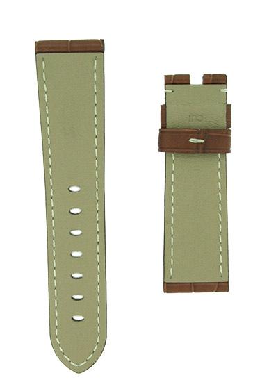 オフィチーネパネライ レザーストラップ ルミノール 40mm用 クロコダイル ゴールド/白ステッチ(艶無) 22-20mm
