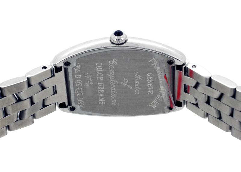 フランクミュラー 1752QZCOLDRM トノーカーベックス カラードリーム SS 黒文字盤 クォーツ ブレスレット