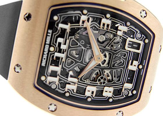 【未使用品】リシャールミル RM67-01 エクストラフラット オートマティック RG スケルトン文字盤 自動巻き ラバー