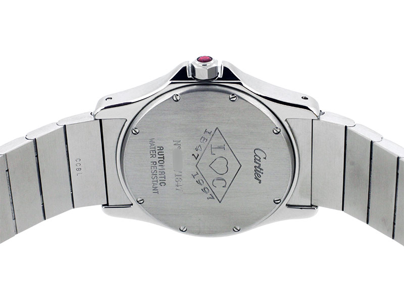 【中古】カルティエ W20038R3 サントスラウンドGMT パワーリザーブ 150周年記念モデル YG&SS シルバー文字盤 自動巻き ブレスレット
