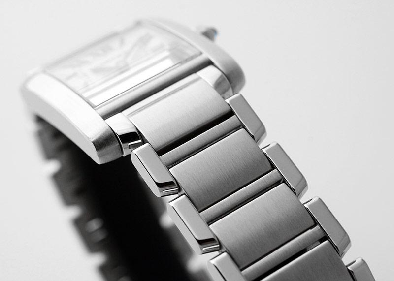【中古】 カルティエ W51008Q3 レディース タンクフランセーズ SM SS 白文字盤 クォーツ ブレスレット