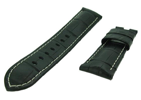 オフィチーネパネライ レザーストラップ ルミノール 44mm用 クロコダイル ブラック(艶無) 24-22mm
