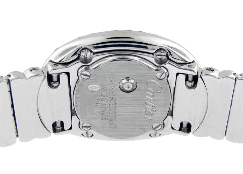 【中古】カルティエ WB5095EA(WB5050EA) ミニベニュワール WG ホワイト文字盤 クォーツ ブレスレット