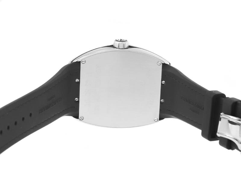 【中古】フランクミュラー V45SCDT ヴァンガード デイト SS 黒文字盤 自動巻き アリゲーター/ラバー