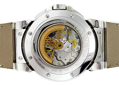 ハリーウィンストン OCEACT44WW002 オーシャン トリレトロ クロノグラフ WG シェル文字盤 自動巻き レザー