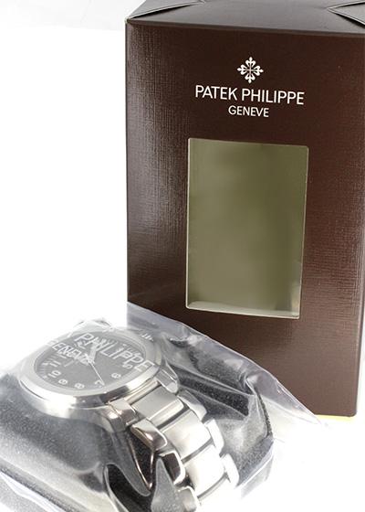 【未開封】 パテックフィリップ 5167/1A-001 アクアノート エクストララージ SS 黒文字盤 自動巻き ブレスレット