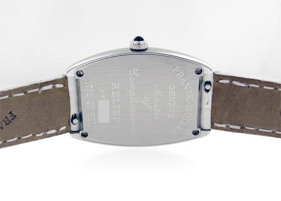フランクミュラー 1752QZ RELIEF レディース トノーカーベックス レリーフ SS シルバー文字盤 クォーツ レザー