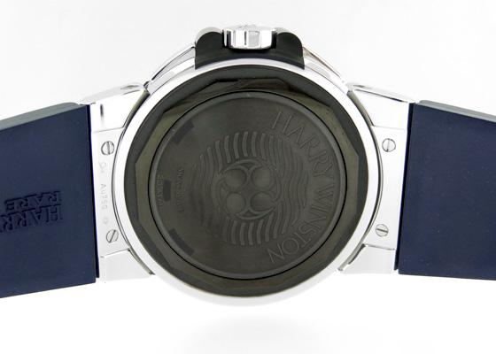 ハリーウィンストン OCEACH44WZ005 オーシャン ダイバー ザリウム&WG 青&シルバー文字盤 自動巻き ラバー