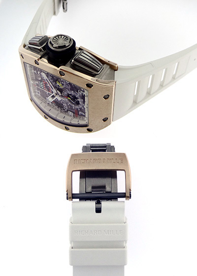 【中古】リシャールミル RM011 AJ RG オートマティック フライバック クロノグラフ フェリペマッサ PG&TI スケルトン文字盤 自動巻き ラバー