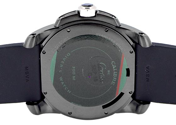 カルティエ WSCA0006 カリブル ドゥ カルティエ ダイバー カーボン SS  黒文字盤 自動巻 ラバー
