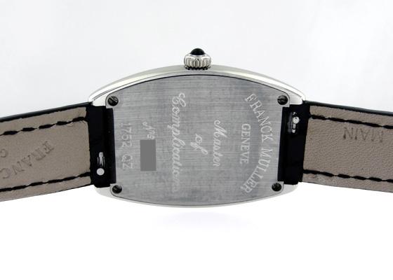 フランクミュラー 1752QZ レディース トノーカーベックス SS シルバー文字盤 クォーツ レザー