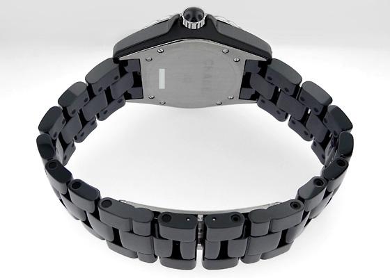 シャネル H3109 J12 ダイヤモンドベゼル 38mm CE 黒文字盤/8Pダイヤモンド 自動巻き ブレスレット