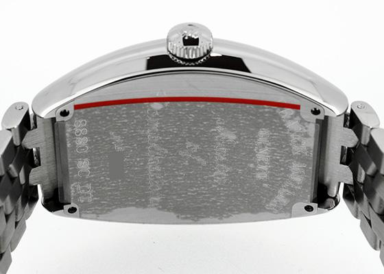 フランクミュラー 8880SCDT トノーカーベックス デイト SS 黒文字盤 自動巻き ブレスレット