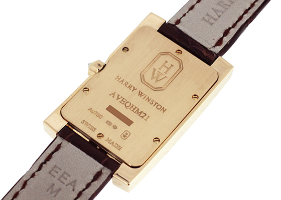 ハリーウィンストン AVEQHM21RR122 レディース アヴェニュー クラシック RG シルバー文字盤 クォーツ レザー