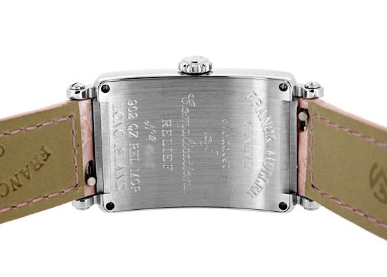 フランクミュラー 902QZ REL MOP レディース ロングアイランド レリーフ  SS シェル文字盤 クォーツ レザー ピンク