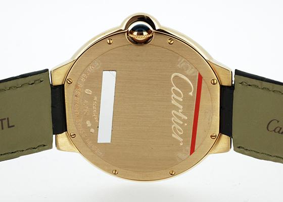 カルティエ W6920089 バロン ブルー PG グレー文字盤 手巻き レザー