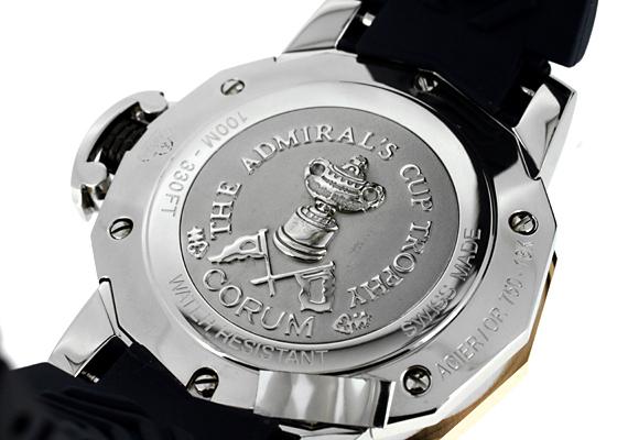 コルム 082.833.24/F373 AB62 アドミラルズカップ トロフィー41 RG&SS ネイビー文字盤 自動巻き ラバー