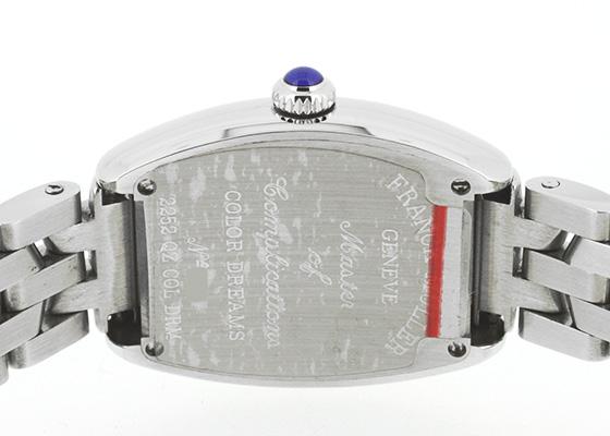 フランクミュラー 2252QZ COL DRM レディース トノーカーベックス インターミディエ カラードリーム SS シルバー文字盤 クォーツ ブレスレット
