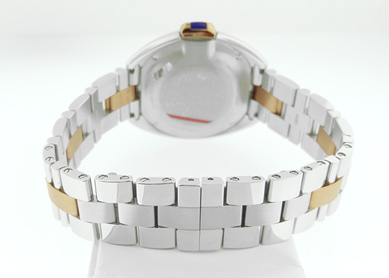 カルティエ W2CL0004 レディース クレドゥカルティエ PG&SS シルバー文字盤 自動巻き ブレスレット