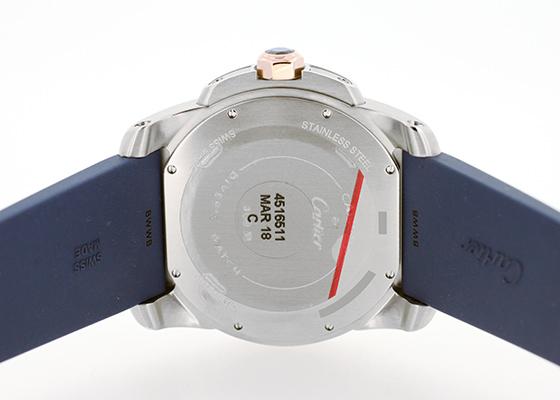 カルティエ W2CA0009 カリブルドゥカルティエ ダイバー PG&SS ブルー文字盤 自動巻き ラバー