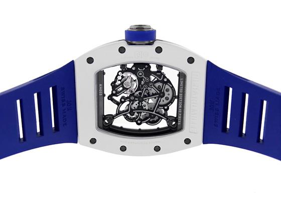 【日本40本限定】リシャールミル RM055 ジャパン ブルー ATZ/NTPT スケルトン文字盤 手巻き ラバー
