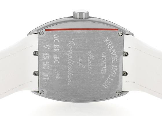 フランクミュラー V45SCDT ヴァンガード デイト SS(サテン仕上げ) 白文字盤 自動巻き ラバーアリゲーター