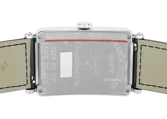 フランクミュラー 1200SC DT  ロングアイランド デイト SS シルバー文字盤 自動巻き レザー