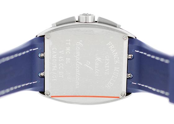 フランクミュラー V45CC DT BL CAMOU ヴァンガード クロノグラフ  カモフラージュ TI ブルー文字盤 自動巻き ナイロン/ラバー