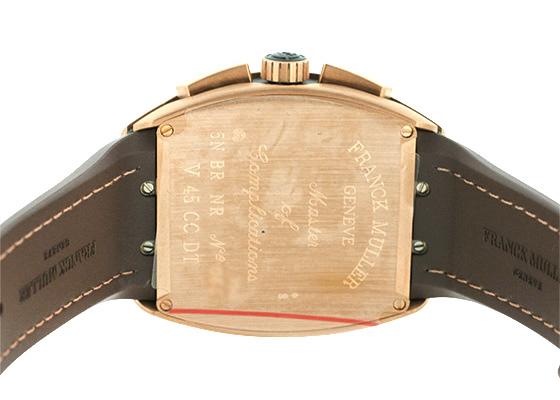 フランクミュラー V45 CCDT 5N BR NR ヴァンガード クロノグラフ デイト PG(サテン) 黒文字盤 自動巻き レザー/ラバー