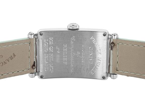 フランクミュラー 902QZ REL MOP レディース ロングアイランド レリーフ SS 白シェル文字盤 クォーツ レザー(パールホワイト)