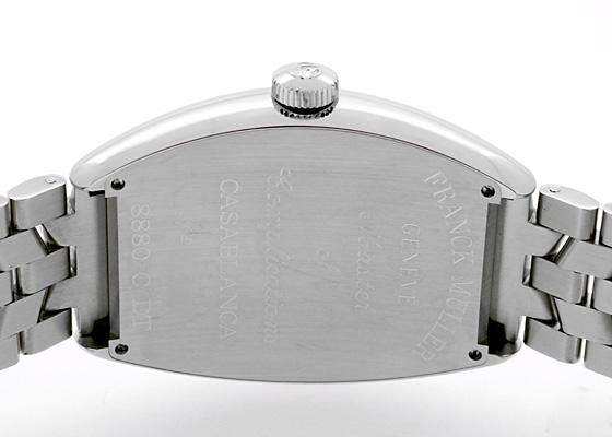 フランクミュラー 8880CDT カサブランカ デイト SS 黒文字盤 自動巻き ブレスレット