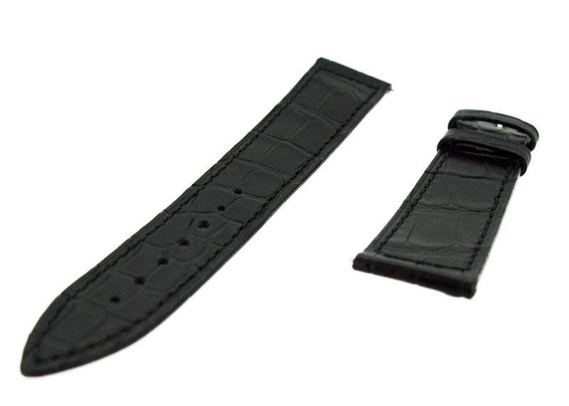 フランクミュラー レザーストラップ マスタースクエア 6002S用 クロコダイル ブラック(艶無) 20-16mm