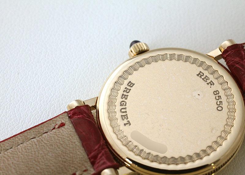 【中古】ブレゲ 8550BA レディース クラシック YG シルバー文字盤 手巻き レザー
