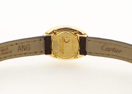 【中古】カルティエ W1510956 ミニ ベニュワール YG ホワイト文字盤 クォーツ レザー