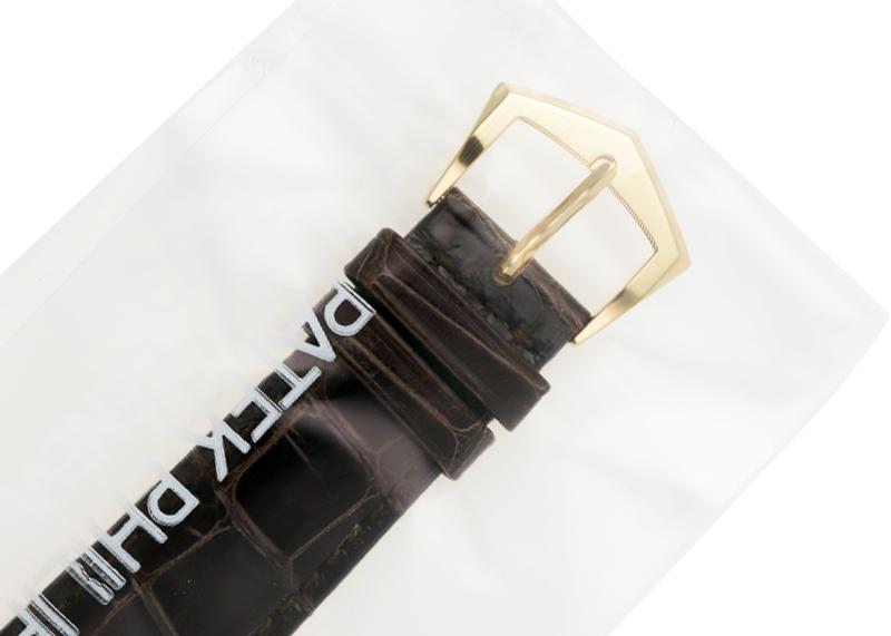 【レストア】パテックフィリップ 5227J-001 カラトラバ Tiffany Wネーム YG アイボリー文字盤 自動巻き レザー
